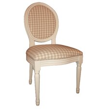 Louis Round Back Chequered Side Chair