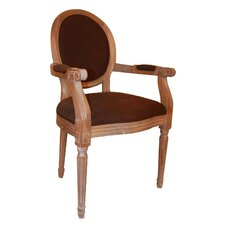Louis Round Back Carver Arm Chair