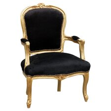 Louis Black Arm Chair II