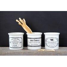 3 Piece Stoneware Jar Set