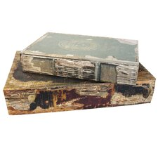 2 Piece Vintage Book Box Set