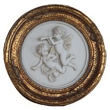 Gilt Round Marble Wall Plaque