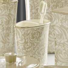 Bedminister Scroll Toothbrush Holder in Crème Brule
