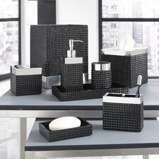Parc East Bricks Bath Accessory Collection in Black