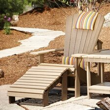 <strong>CR Plastic Products</strong> Generations Adirondack Chair and Ottoman with Cushions