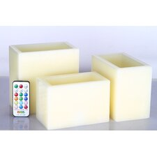 Vanilla Flameless Candle (Set of 3)