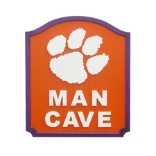 NCAA Man Cave Graphic Art Shield Plaque
