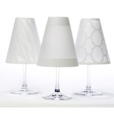 "4.5"" Manhattan Paper Empire Lamp Shade (Set of 6)"
