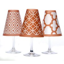 "4.5"" Barcelona Paper Empire Lamp Shade (Set of 6)"