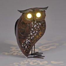 Garden Owl Ornament with Solar Powered LED