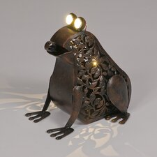 Garden Frog Ornament with Solar Powered LED