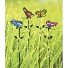 Assorted Butterfly Garden Stakes (Set of 4)