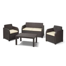 Caroline 4 Piece Lounge Seating Group with Cushion