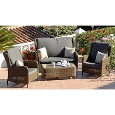 <strong>SunTime Outdoor Living</strong> Lyon 4 Piece Lounge Seating Group