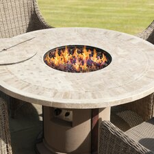 Marble Top Firepit Table