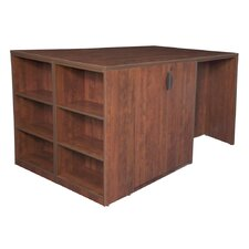 Legacy Executive Desk with Bookshelf