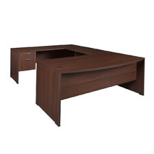 "71"" Double Pedestal ""U"" Executive Desk"