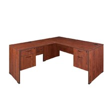 Sandia Corner Desk with Double File/Box Pedestal