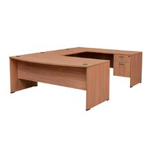 Sandia Executive Bow Front U-Desk