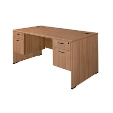 "Sandia 66"" Writing Desk with Double Box/File Pedestal"