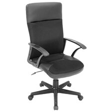 <strong>Regency</strong> Imperial High-Back Leather and Fabric Swivel Office Chair