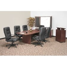 "<strong>Regency</strong> 71"" x 35""  Boat Shape Conference Table Office Set"