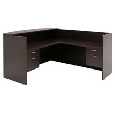 "71""x82"" Double Pedestal Reception Station"
