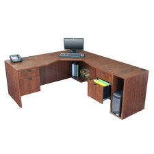 <strong>Regency</strong> Legacy Desk with Angled Corner - Right