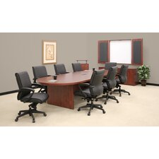 Legacy Modular Cherry Laminate Conference Table with Center Grommets