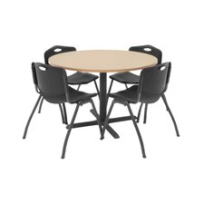 """Hospitality 42"""" Round Table with Chairs"""