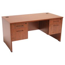 "Sandia 60"" Writing Desk with Double Box/File Pedestal"