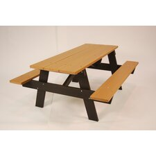 <strong>Frog Furnishings</strong> Recycled Plastic A-Frame Picnic Table