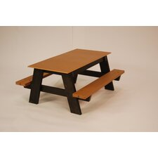 <strong>Frog Furnishings</strong> Recycled Plastic Kids Picnic Table