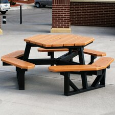 <strong>Frog Furnishings</strong> Recycled Plastic Hex Picnic Table