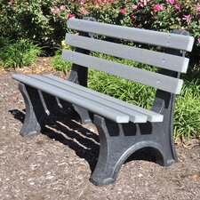 Central Park Recycled Plastic Park Bench