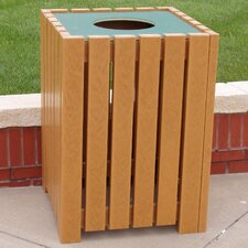 32 Gallon Recycled Plastic Standard Square Receptacle