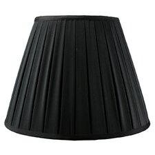 <strong>Home Concept Inc</strong> Empire Box Pleated Black Shantung Fabric Lamp Shade