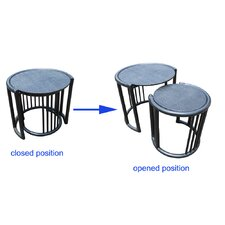 <strong>D-Art Collection</strong> Rattan 2 Piece Nesting Tables
