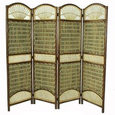 "69"" x 59"" Seagrass 4 Panel Room Divider"