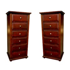Java 6 Drawer Chest (Set of 2)
