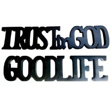 Trust In God and Good Life Sculpture