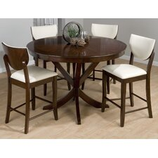 Satin 5 Piece Counter Height Dining Set