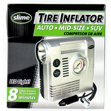 Slime Tire Compressor with Gauge Light