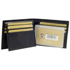 Lambskin Leather Bi-Fold Wallet