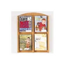 Contemporary 4 Pocket Display Rack