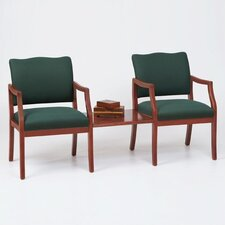 <strong>Lesro</strong> Franklin Two Chairs with Connecting Center Table