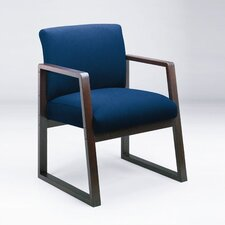 Bristol Guest Chair with Arm Sled Base