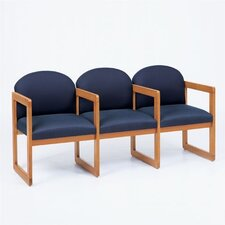 Classic Three Seats with Arm Sled Base
