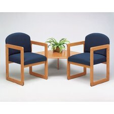Classic Two Chairs with Connecting Corner Table