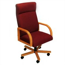 <strong>Lesro</strong> Contour Series High-Back Office Chair with Arms